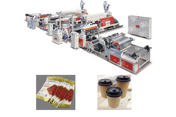 SJFM 1000-2000D double mainframe extrusion film laminating machine