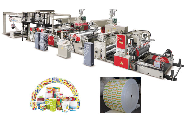 WSFM1100-2000B Double Sides High Speed Extrusion Coating And Laminating Machine(Auto splicer)