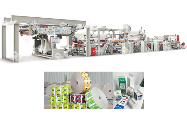 WSFM1100-2000 full automatic milk box/bevarage box extrusion lamination line